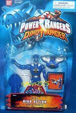 """Power Rangers Dino Thunder 5"""" Blue Dino Action Ranger New Factory Sealed 2003"""
