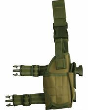 Green US Style Pistol Leg Holster Adjustable Tactical Military Security Swat