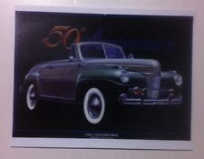 """1941 Ford Convertible"" Illustration 8x10 Reprint Garage Decor"