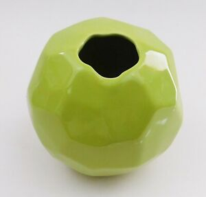 Global Views Nugget Bud Vase Chartreuse Green Round Sphere Modern