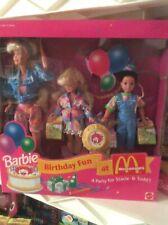 Barbie Birthday Fun At McDonald's Doll Set Barbie, Stacie, Todd #11589 1993 NRFB