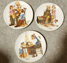 """New ListingSet of 3 Norman Rockwell 1982 Le Collector Plates 6 1/2"""""""