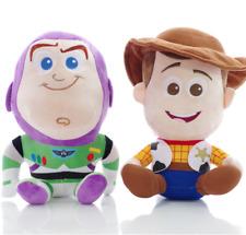 Toy Story Plush Dolls Woody Buzz 2pcs Set Cartoon Characters Kids Toys Gift New