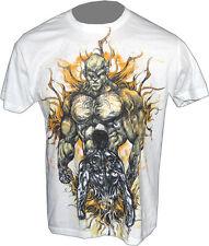 Tri-Coasta MMA Fight Gear Dark Side White Tee Shirt M Medium