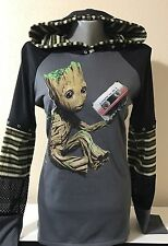 DiY Baby Groot Hoodie Guardians Of The Galaxy Marvel Regular Or 1X Plus Size