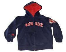 BOSTON RED SOX ZIP UP HOODED SWEATSHIRT BOYS YOUTH SIZE: 8 MAJESTIC MLB BASEBALL