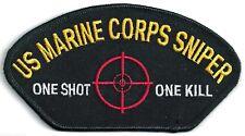 U.S. MARINES SNIPER - ONE SHOT, ONE KILL - IRON-ON PATCH