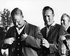 Arnold Palmer Receives Green Jacket from Jack Nicklaus Black & White 8x10 Photo