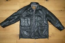 Ciro Citterio Winter Quilted Leather Jacket Made in Italy Black size M - L