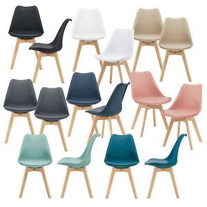 [en.casa] 2x Esszimmerstuhl Bürostuhl Küchenstuhl Stuhl Stuhlset Stühle Set