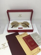 New Vintage Cartier Saint Honore Limited Series Sunglasses W/Sapphire 1980s 51mm