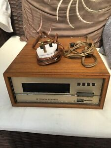 Wien 8TD3 Stereo 8 Track Cassette Player By BSR, 1965. Clean, Complete, Working