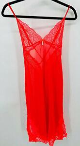 Victoria's Secret Nightgown Size Medium Sheer Midi Negligee Lace