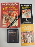 Vintage Backgammon Atari 2600 1979 CIB Box game Manual