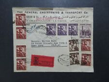 Egypt 1954 Registered Cover to USA / Sm Top Tears - Z8247