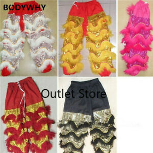 Chinese Folk Art Lion Dance Pants Adults Costume Wool Southern Lion Only Pants
