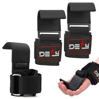 DEFY New Weight Lifting Power Training Dip Hook bar Straps Wrist Support Black