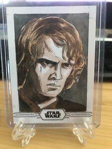 2019 Star Wars Topps Chrome Legacy Sketch Anakin Skywalker 1/1 Artist Autograph