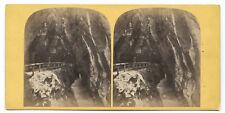 PHOTO STEREO - Suisse, Gorges de la Tamina, c.1880 - Switzerland STEREOVIEW FOTO