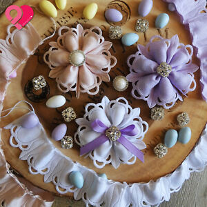 Flower Leaf Pull Bow Ribbon Pouch Jordan Almond Holder Baby Wedding Party Favor