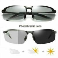 Herren Polarisierte Sonnenbrille Fahren Brillen Angeln UV400 Schwarz-photochrome