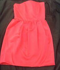 Rachel Roy Size 8 Strapless Hot Pink Fuchsia Cocktail Dress Sexy