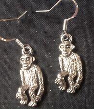 Monkey Earring on 925 Silver Hooks.       FREE POSTAGE