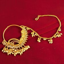 Women Nose Rings Wedding Jewelry Indian Bollywood Gold plated Nath Traditional
