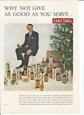 Vintage 1957 Early Times Whisky Holiday Package Original Magazine Print Ad