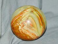 Steinkugel, Onyx, schöne Maserung, Ø 7,7 cm