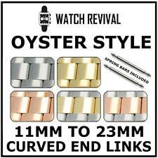 OYSTER WATCH BRACELET STRAP 11, 12, 14, 16, 18, 20, 22, 23MM CURVED ENDLINKS UK