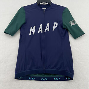 MAAP Encore Pro Base Cycling Jersey Short Sleeve Size: Men's Large - Navy Blue