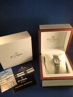 CYMA Ladie's Signature Series Mother of Pearl Dial Diamond Dial DIamond Bezel
