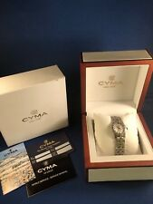 CYMA Ladie's Signature Series Mother of Pearl Dial Diamond Dial DIamond Bezel