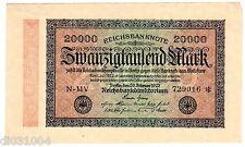 Allemagne GERMANY BILLET 20000 MARK 1923 P85 BON ETAT