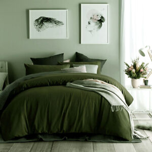 Waffle Olive Cotton Quilt Cover Set or Accessories by Accessorize