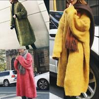 Womens Loose Fit Knitted Outwear Jackets Warm Cardigan Coats Korean Plus Sz V509