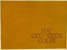 Fiat 2300 e 2300 S Coupè depliant originale