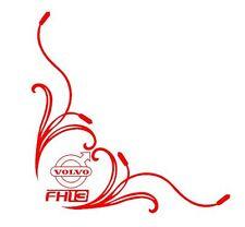 VOLVO FH13 Corner HGV Window Stickers Decals x 2