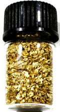 1.000 GRAMS ALASKAN YUKON BC NATURAL PURE GOLD NUGGETS MESH #30 W BOTTLE (#B300)
