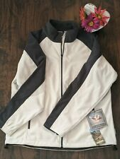 XXL Womens Landway Fleece Grey and White Jacket Full Zip NWT