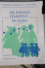 Recueil de chants et partitions  Les enfants chantent... les poètes