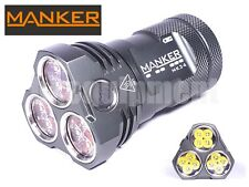 MANKER MK34 12x Cree XP-G3 8000lm Cool White LED Flashlight with Pouch