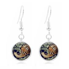 Snail Shell Art Photo Art Glass Cabochon 16mm Charm Earring Earring Hooks