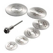 7x HSS Circular Wood Cutting Saw Blade Discs Mandrel Mini Drill For Rotary I9P6