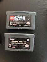 Gameboy Advance Star Wars Game Lot LEGO STAR WARS II -STAR WARS FLIGHT OF THE...