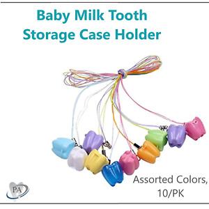 Baby Teeth Save Box Plastic Tooth Fairy Souvenir Box Tooth Keepsake Assort 10/kP