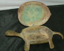 Antique CAST IRON TURTLE Match Safe Striker Holder Hinged Box
