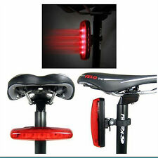 New 5 LED Waterproof Cycling Bicycle Bike 4 Modes Rear Safety Tail Light Lamp