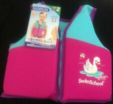 Girls SWIM SCHOOL SWIM TRAINER VEST LEVEL 2 AGES 4-6 years UPF 50  Pink & blue.